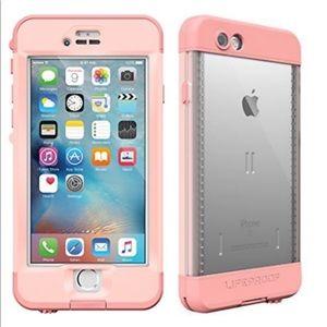 NEW iPhone 6/6s Plus Pink Nuud Lifeproof Case